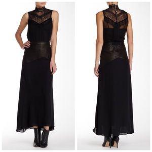alice + olivia Skirt LAMBSKIN Cheyleigh Silk Maxi